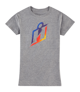 CAMISETA ICON MUJER ICON RS GRADIENT GRIS