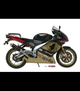 APRILIA RSV 1000 1998 - 2003 ESCAPE STORM OVAL INOX NEGRO