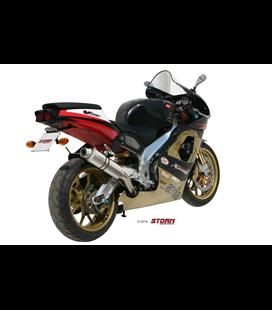 APRILIA RSV 1000 1998 - 2003 ESCAPE STORM OVAL INOX