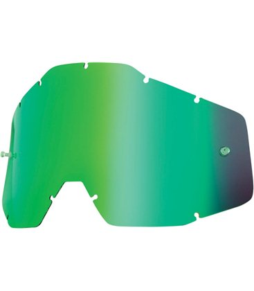 MIRROR GREEN REPLACEMENT LENS FOR 100% GAFAS OFFROADS