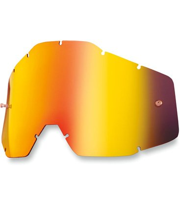 MIRROR RED REPLACEMENT LENS FOR 100% GAFAS OFFROADS