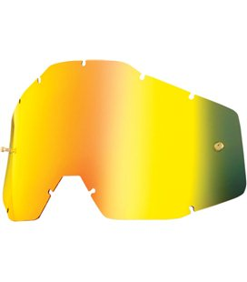 MIRROR GOLD REPLACEMENT LENS FOR 100% GAFAS OFFROADS