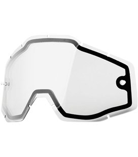 CLEAR DUAL REPLACEMENT LENS FOR 100% GAFAS