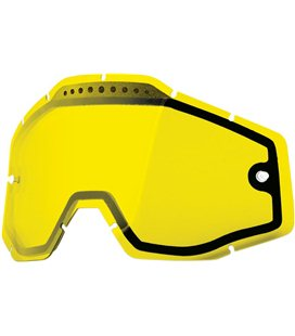 YELLOW VENTED DUAL REPLACEMENT LENS FOR 100% GAFAS