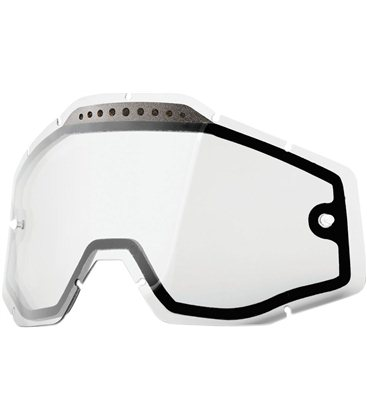 CLEAR VENTED DUAL REPLACEMENT LENS FOR 100% GAFAS