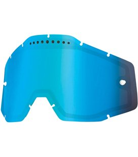 MIRROR BLUE VENTED DUAL REPLACEMENT LENS FOR 100% GAFAS