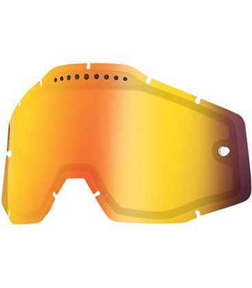 MIRROR RED VENTED DUAL REPLACEMENT LENS FOR 100% GAFAS