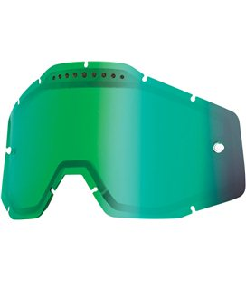 MIRROR GREEN VENTED DUAL REPLACEMENT LENS FOR 100% GAFAS