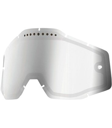 MIRROR SILVER VENTED DUAL REPLACEMENT LENS FOR 100% GAFAS