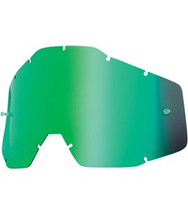 YOUTH MIRROR GREEN REPLACEMENT LENS FOR 100% JR GAFAS