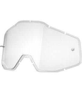CLEAR ANTI-FOG INJECTED REPLACEMENT LENS FOR 100% GAFAS