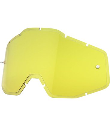 HD YELLOW ANTI-FOG INJECTED REPLACEMENT LENS FOR 100% GAFAS