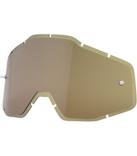 HD OLIVE ANTI-FOG INJECTED REPLACEMENT LENS FOR 100% GAFAS
