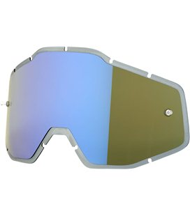 MIRROR BLUE/SMOKE ANTI-FOG INJECTED REPLACEMENT LENS FOR 100% GAFAS