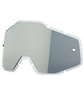 MIRROR SILVER FLASH/SMOKE ANTI-FOG INJECTED REPLACEMENT LENS FOR 100% GAFAS