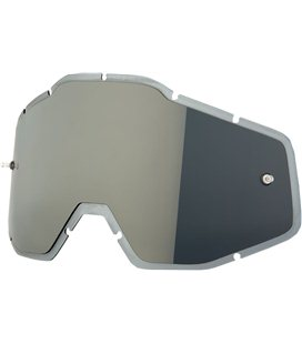 MIRROR SILVER/SMOKE ANTI-FOG INJECTED REPLACEMENT LENS FOR 100% GAFAS