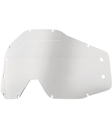 CLEAR SONIC BUMPS REPLACEMENT LENS W/ MUD VISOR FOR 100% ACCURI FORECAST GAFAS