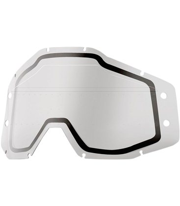 CLEAR SONIC BUMPS DUAL REPLACEMENT LENS W/ MUD VISOR FOR 100% GAFAS