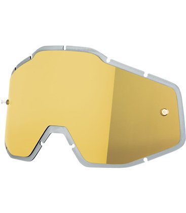 INJECTED MIRROR GOLD REPLACEMENT LENS FOR 100% GAFAS OFFROADS