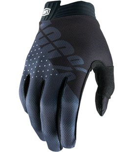 YOUTH ITRACK GUANTES CORTOS NEGRO/CHARCOAL MEDIUM