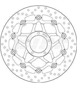 DUCATI 939 HYPERMOTARD SP 16  - DISCO FLOTANTE DELANTERO BREMBO