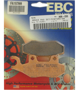 KAWASAKI EX 400 ABS 18' - 19' EBC SINTETIZADAS DEL DCHA/TRAS DCHA