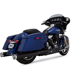 HARLEY DAVIDSON ELECTRA GLIDE ULTRA CLASSIC 107 2018 - 2019 EXHAUST SLIP-ONS MONSTER ROUND BLACK