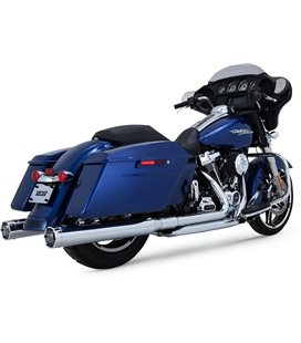 HARLEY DAVIDSON ELECTRA GLIDE ULTRA LIMITED LOW 107 2017 - 2017 EXHAUST SLIP-ONS MONSTER ROUND CHROME