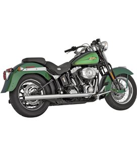 HARLEY DAVIDSON FAT BOY 2007 - 2010 EXHAUST SOFTAIL DUALS CHROME