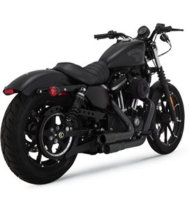 HARLEY DAVIDSON SPORTSTER FORTY-EIGHT SPECIAL 2018 - 2020 EXHAUST SYSTEM MINI-GRENADES 2-INTO-2 BLACK