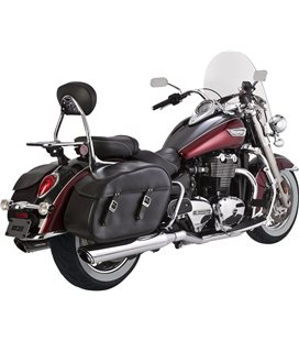 TRIUMPH LT 2014 - 2016 EXHAUST TWIN SLASH DUALS FOR TRIUMPH