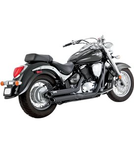 SUZUKI INTRUDER C 800 2005 - 2009 EXHAUST TWIN SLASH STAGGERED BLACK