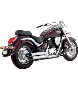SUZUKI INTRUDER C 800 2005 - 2009 EXHAUST TWIN SLASH STAGGERED CHROME