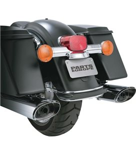 HARLEY DAVIDSON ELECTRA GLIDE ULTRA LIMITED 2011 - 2013 MUFFLER EC APPROVED MONSTER TWIN SLASH CHROME
