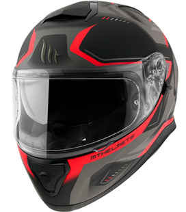 CASCO MT THUNDER 3 SV TURBINE C3 MATE ROJO FLUOR