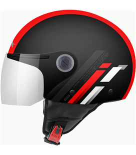 CASCO MT STREET SCOPE D5 ROJO BRILLO