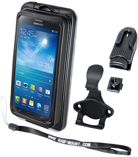 RAM MOUNT CRADLE HOLDER AQUA BOX PRO 20 IPHONE 3/4/5 CASE AND CLIP TRANSPARENT COMPOSITE BLACK