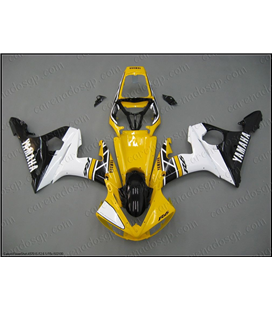 Carenado Yamaha R6 2003-2005 50 aniversario amarillo