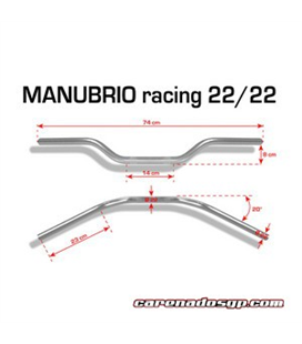 MANILLAR RACING NEGRO BARRACUDA