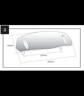 DEFLECTOR CUPULA PUIG CON FIJACION DE TORNILLO 325 x 102mm
