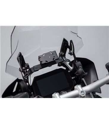 BMW R1200GS (13-), R1250GS (18-) SOPORTE DE GPS QUICK-LOCK NEGRO