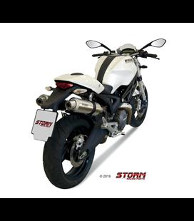 DUCATI MONSTER 696 2008 - 2014 2 ESCAPES STORM GP INOX