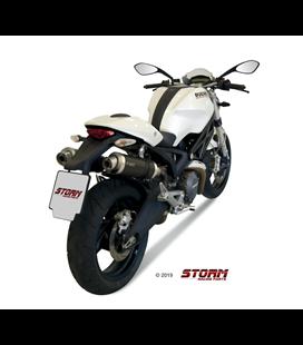 DUCATI MONSTER 696 2008 - 2014 2 ESCAPES STORM GP INOX NEGRO