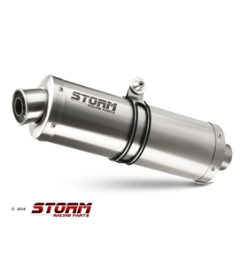 SUZUKI DL V-STROM 1000 2002 - 2013 2 ESCAPES STORM OVAL INOX