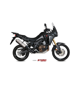 HONDA CRF 1000 L AFRICA TWIN 2016 - ESCAPE STORM OVAL INOX