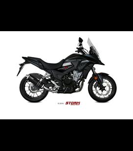 HONDA CB 500 X 2017 - ESCAPE STORM GP INOX NEGRO