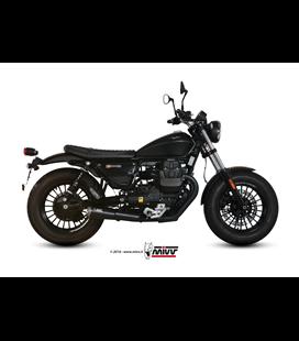 MOTO GUZZI V9 BOBBER / ROAMER 2016 - GHIBLI INOX NERO CERAMICO/CERAMIC BLACK ST. STEEL MIVV