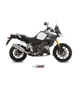 SUZUKI DL V-STROM 1000 / XT 2014 - OVAL INOX/ST. STEEL MIVV