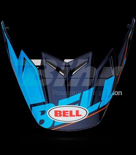 VISERA BELL MOTO-9 CARBON FLEX BLOCKED AZUL