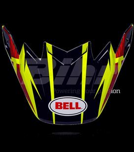 VISERA BELL MOTO-9 CARBON FLEX RAYAS AMARILLAS / ROJO